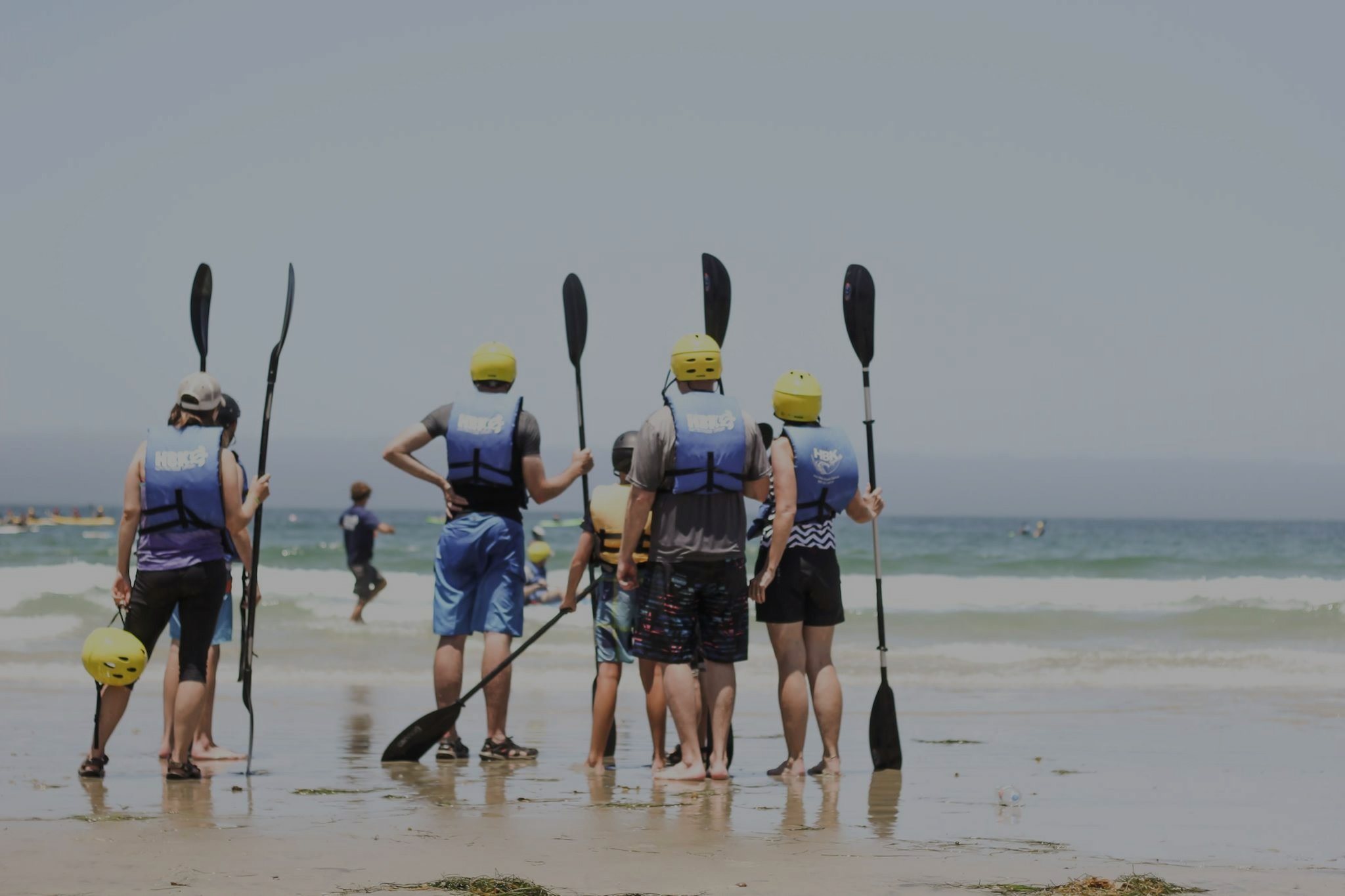 ready to get in the ocean with Hike Bike Kayak